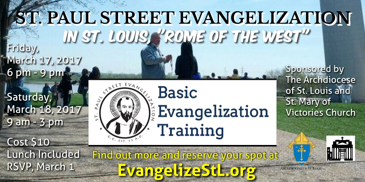 Evangelization Workshop - Sign Up Now!!
