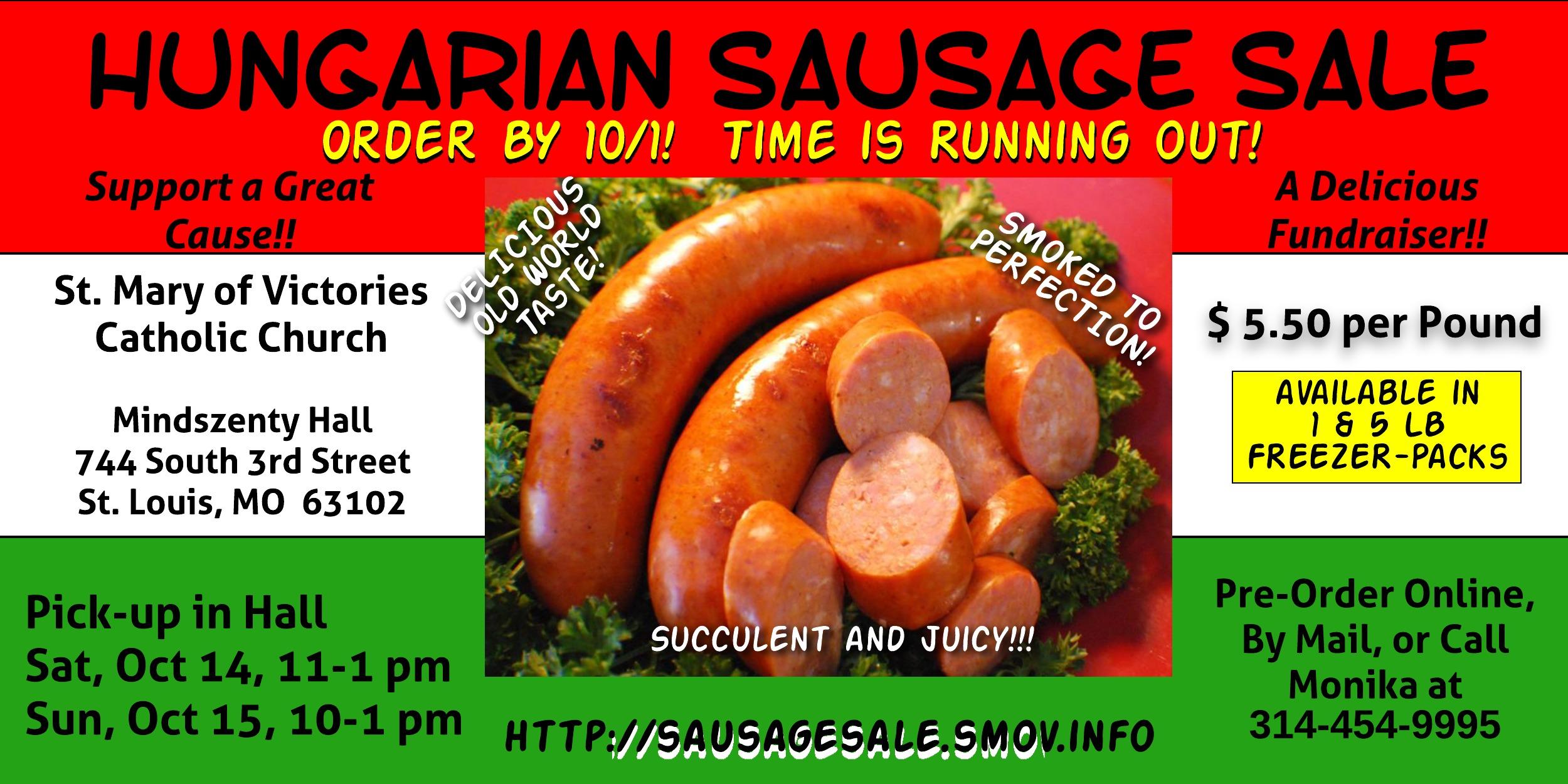 2017 Sausage Sale